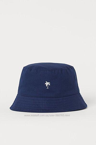 Панама H&M 1-6 лет 49-52 см для мальчика синяя с пальмой панамка хлопковая