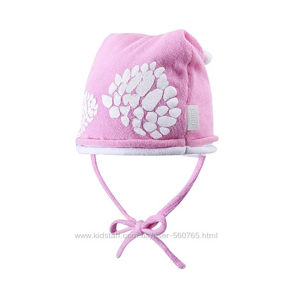 Демисезонна шапка Reima Albula 50 см для девочки хлопковая Рейма розовая