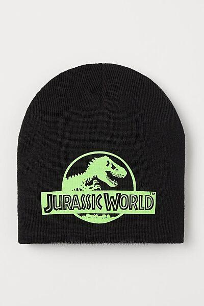 Теплая шапка H&M 110-128 см 3-6 лет Jurassic World осенне-зимняя двойная