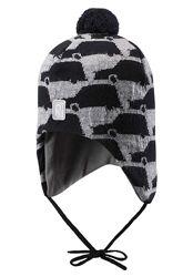 Зимняя шапка Reima Atuk 48 см Рейма шерстяная теплая мальчику с машинками