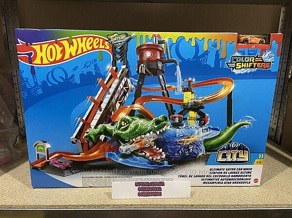 Игровой набор Hot Wheels Измени цвет Водонапорная башня Ultimate Gator Car