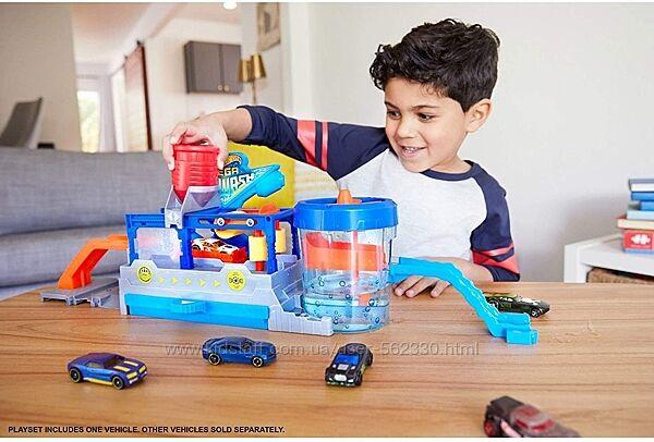 Игровой набор Hot Wheels Измени цвет Большая автомойка Хот Вилс FTB66