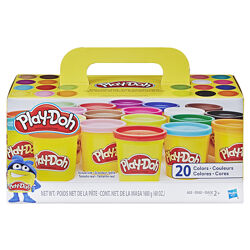Набор для лепки пластилин Плей до из 20 банок Hasbro Play-Doh 1,68 кг A7924