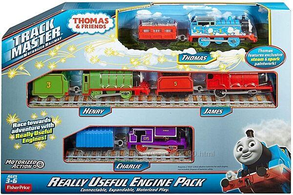 Игровой набор из 4 паровозиков Томас и Друзья Трекмастер Thomas TrackMaster