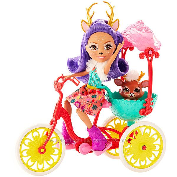 Enchantimals Енчантімалс Данесса Оленні на велосипеді mattel GJX30