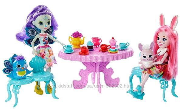 Enchantimals Игровой набор Чаепитие Пэттер Павлины и Бри Кролика Tasty Tea