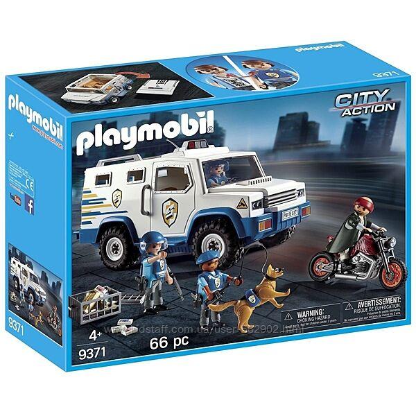 Playmobil 9371 Полицейская инкассаторская машина Погоня за грабителем