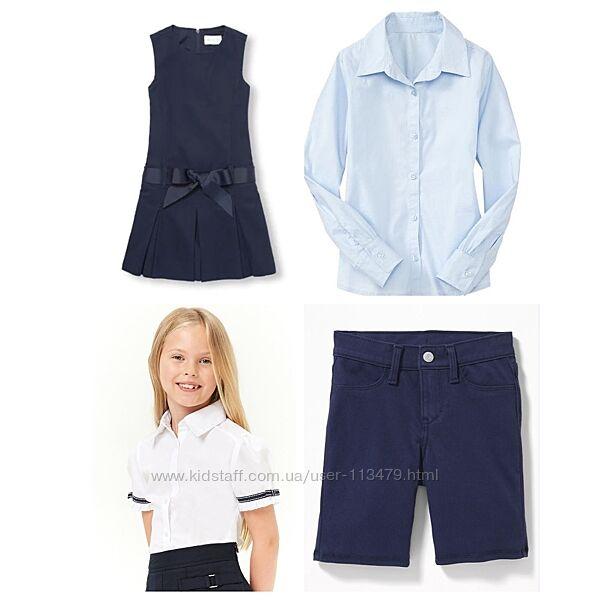 школьная одежда для девочки 6-9лет с сайтов США сарафан, шорты, рубашки, бл