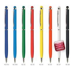 Ручка шариковая металлическая со стилусом KENO