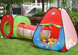 М2958 Детская палатка, домик с тоннелем  два в одном