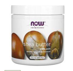 Масло ши для тела, масло ши для тіла, Solutions, Now Foods, 207 мл