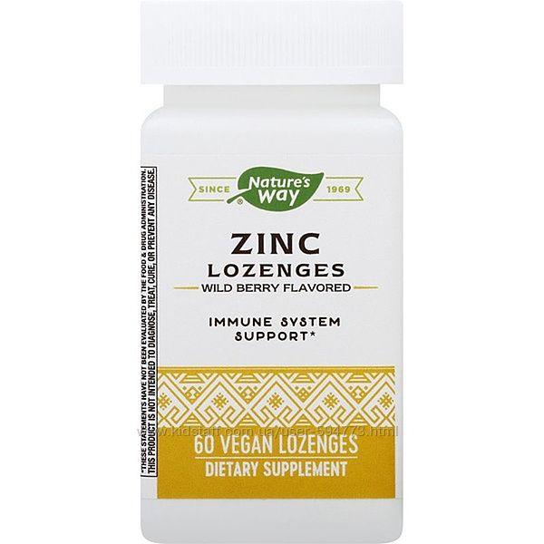Леденцы с цинком и эхинацеей Natures Way, Zinc Lozenges
