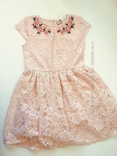 Летнее нарядное платье 128-134