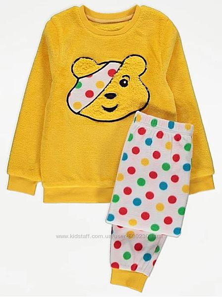 Тепла флісова піжама дівчинці George від 6 до 13 років