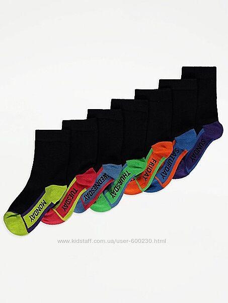 Комплект з 7 пар носочків GEORGE розмір 31-36