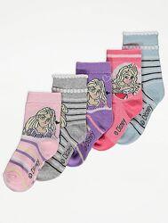 Комплект з 5 пар носочків дівчинці GEORGE розмір 31-34