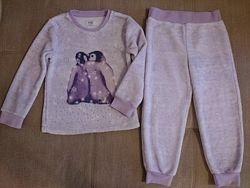 Теплая пижамка плюшевая 4-5 лет F&F
