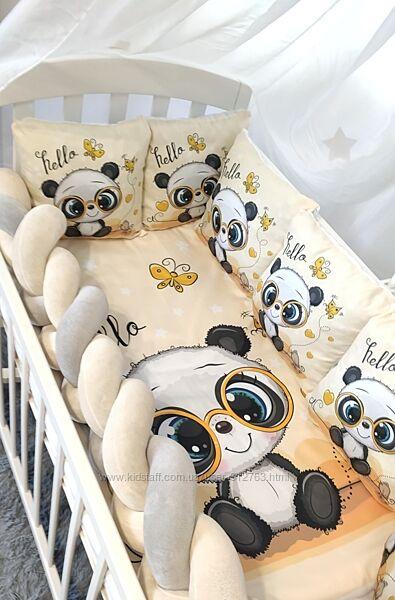 Детский комплект постельного белья Принт косичка