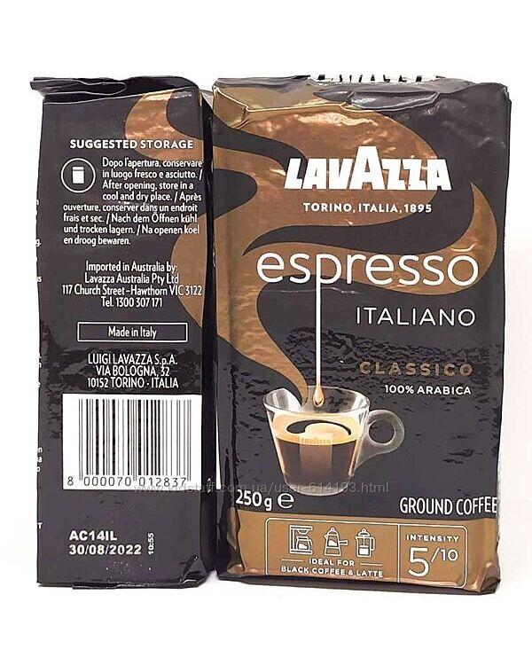Lavazza Espresso Italiano кофе молотый Арабика 100 250г Италия