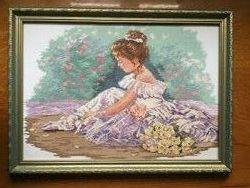 Очень красивая картина балерина хрестиком 30 на 43см