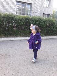 Пальто флисовое на девочку 1,5 года, куртка, ветровка