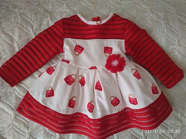 Платье на 1-2-года 76-80см