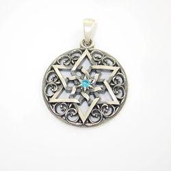 Серебряная подвеска талисман Шестиконечная Звезда