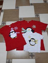 Комплект family look 3 футболки с принтом