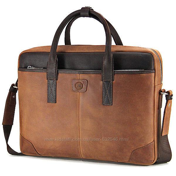 Сумка кожаная для ноутбука 15,6, MackBook 16 Tom Stone 717 R-Br