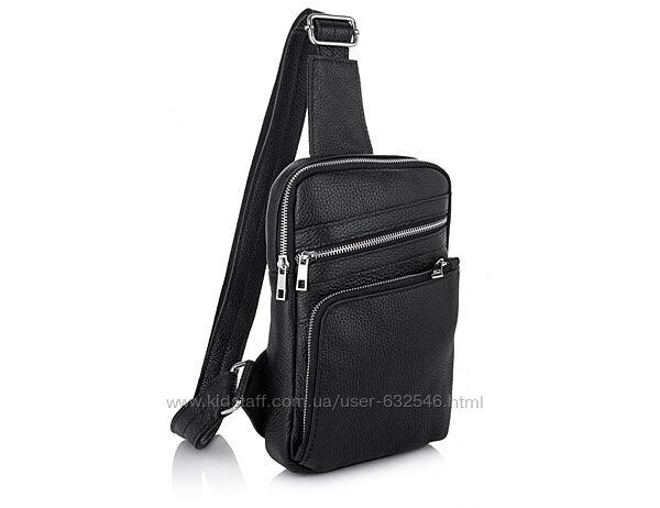 Мужская кожаная сумка-рюкзак через плечо Newery
