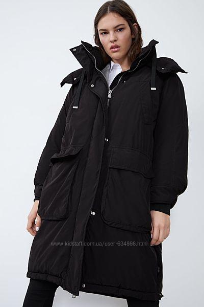 Пальто пуховик Zara М , оверсайз  Sorona Dupont утеплитель