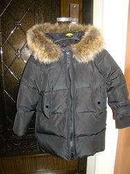 Зимняя куртка пуховик Zara р.7 рост 122см