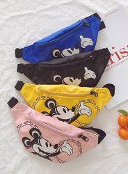 Детская поясная сумочка бананка Микки Маус