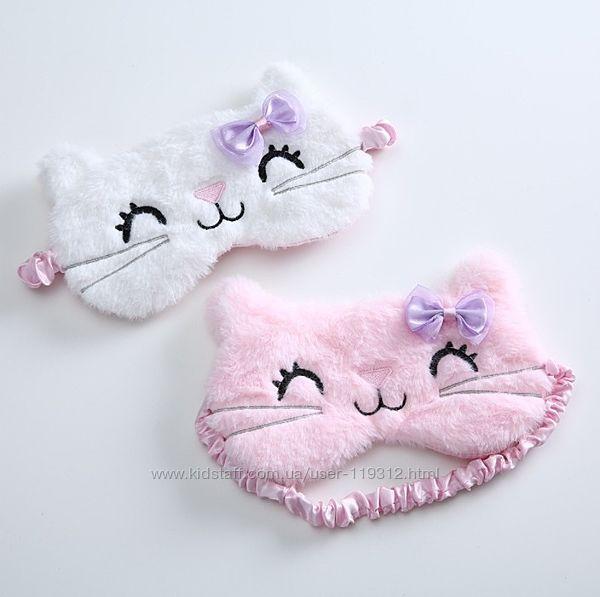Детская маска для сна Котик