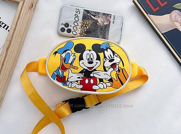 Детская сумка бананка Микки Маус Mickey Mouse