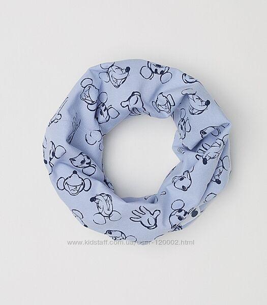 трикотажный шарф снуд H&M Англия с Микки Маусом для малыша