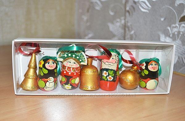 Набор елочных игрушек сувенирный дерево