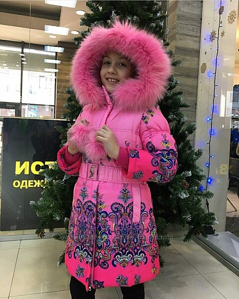 Зимние пальто Kiko 3327 на девочку  116, 122, 128, 134 тинсулейт