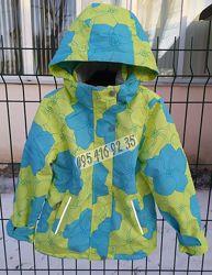 Удлинённая демисезонная термо куртка для девочки 110-134