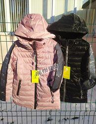 Подростковая деми куртка для девочки в стразах 140-164