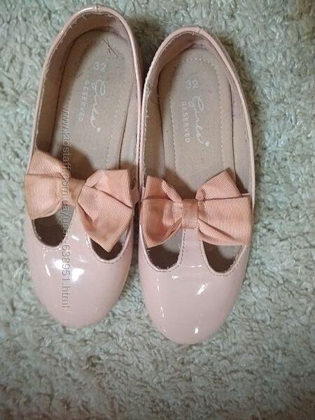 Лакированіе нарядніе туфельки Reserved,32 размер