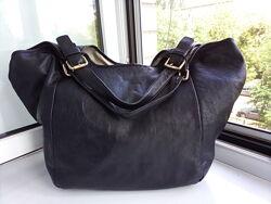 Большая кожаная сумка- шопер Cynthia Vincent