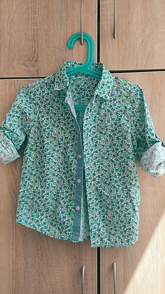 Стильная рубашка на мальчика Mothercare, рост 110-116