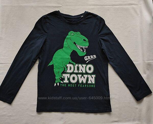 Реглан футболка C&A динозавр размер 134-140 в отличном состоянии