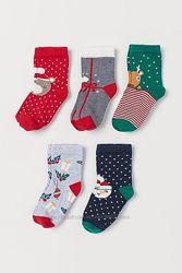 Новогодние носочки h&m, 3-12 месяцев