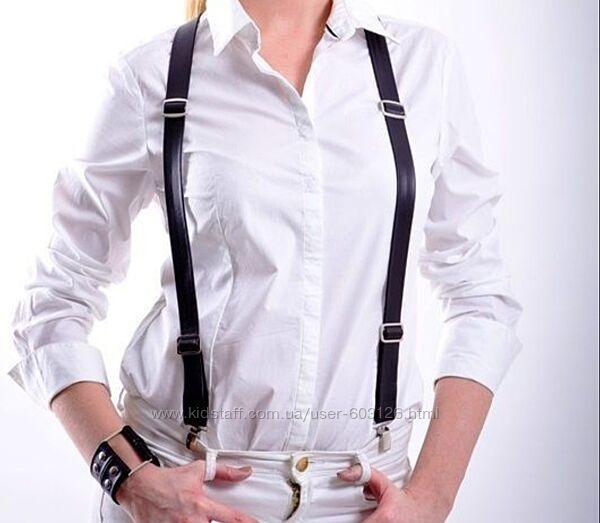 Подтяжки кожа на штаны, юбку, портупея, корсет, пояс, ремень,