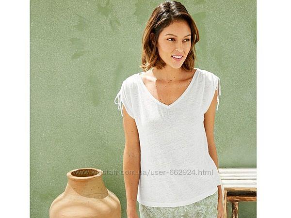 Льняная футболка, блуза з льону, l 44-46 euro, наш 50-52, Esmara, Германия