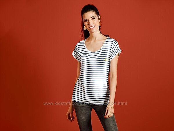 Стильная футболка в полоску, m-l 40-42 euro, наш 46-48, Esmara, Германия