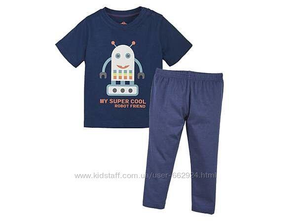 Пижама, костюм для мальчика, футболка, штаны, 110-116, Lupilu, Германия