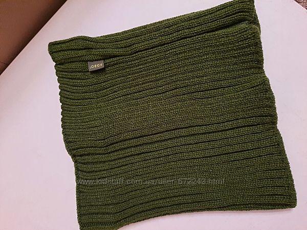 Теплый шарф-хомут для мальчика